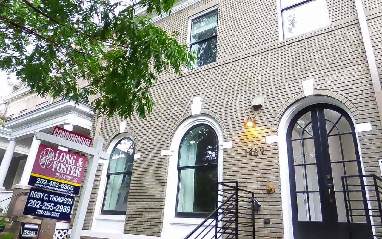 Small Condo Building in DC Exterior