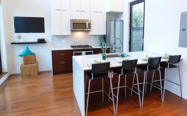 Small Condo Building in DC Kitchen